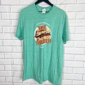 Delta Nebraska Omaha Reuben sandwich food tee XL